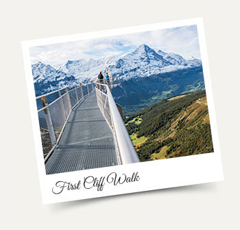 Spectacular First Cliff Walk above Grindelwald - Wengen excursion