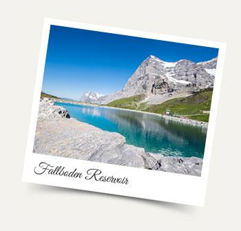 Fallboden Reservoir below the Eiger: Wengen excursions