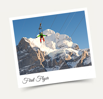 First Flyer above Grindelwald