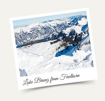 Lake Brienz from Faulhorn - Winter activities