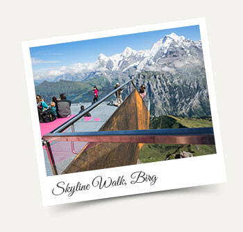 Stunning Skyline Walk at station Birg in the Jungfrau Region